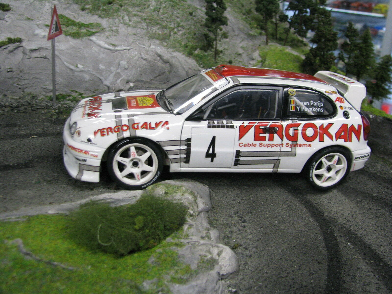 QSP Toyota Corolla WRC 1:18  5 van Parijs  BEL  / Peyskens  BEL  Haspengouw 2004