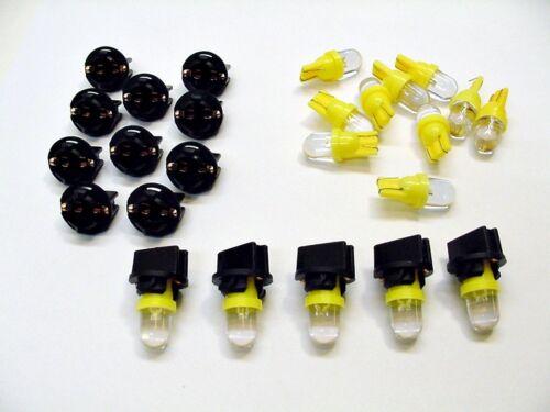 "15 Amber Dome LEDs Light Bulbs 1//2/"" Sockets License Plate Instrument Panel Mopar"