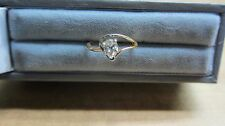 LADYS 14K YELLOW GOLD PEAR SHAPED DIAMOND ENGAGEMENT RING #284
