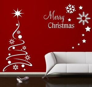 Image Is Loading Christmas Tree Wall Sticker Wall Window Shop Quote  Part 81