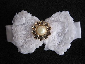 Beautiful Baby039s Headband with Lacey Bow and Pearl Centrepiece - <span itemprop=availableAtOrFrom>Stourbridge, United Kingdom</span> - Beautiful Baby039s Headband with Lacey Bow and Pearl Centrepiece - Stourbridge, United Kingdom