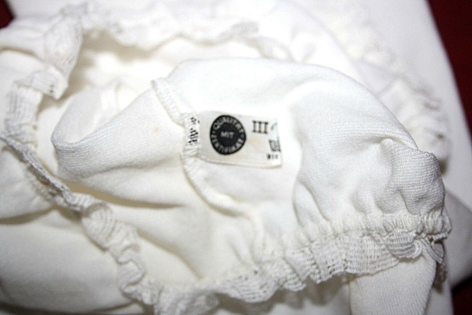 Original 1950er Ans Nylon Maillot manches Corps Chemise manches Maillot courtes HELANCA BLANC TAILLE 44 vintage 083f40