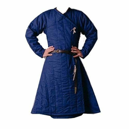 Valentine Gift Thick Blue Gambeson Medieval Padded Full Sleeves Reenactment Larp