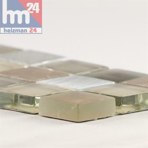 Mosaik Llevant Glas Naturstein Metall Bordüre 29,5 x 7,5 x 0,8 cm