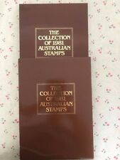 Collection of 1981 Australian Post Year Book Album with Stamps - Deluxe Edition