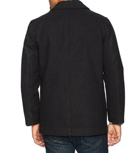 NWT Nautica Men/'s Double Breasted Wool Peacoat S// L //XL Charcoal