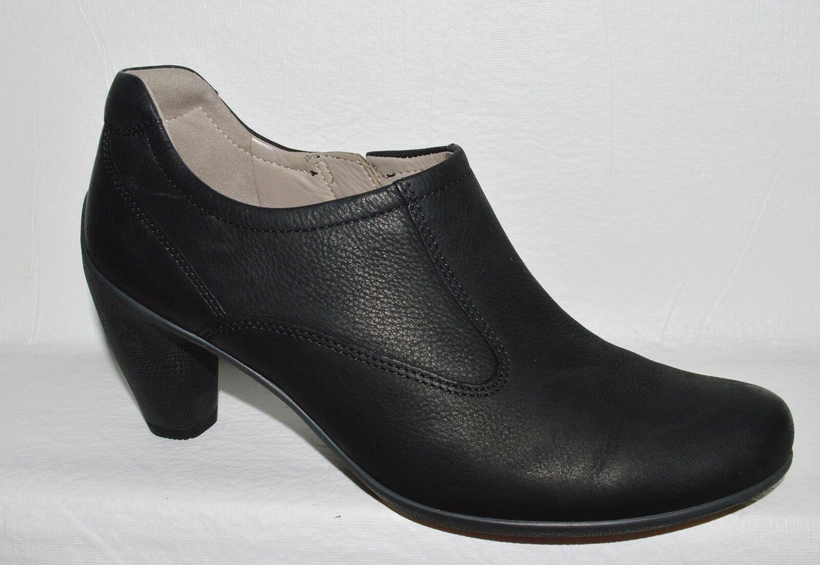 ECCO SZ 9 M 40 BLACK LEATHER BOOTIES PUMPS HEELS Schuhe EXCELLENT CONDITION