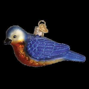 Old World Christmas WESTERN BLUEBIRD (16112)N Glass Ornament w/OWC Box