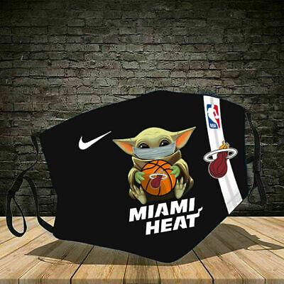 Hot Baby Yoda Miami Heat Face Mask 3d Unisex 100 Cotton Ebay