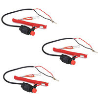 3pcs Boat Outboard Engine Motor Bike Kill Stop Switch Safety Tether Lanyard