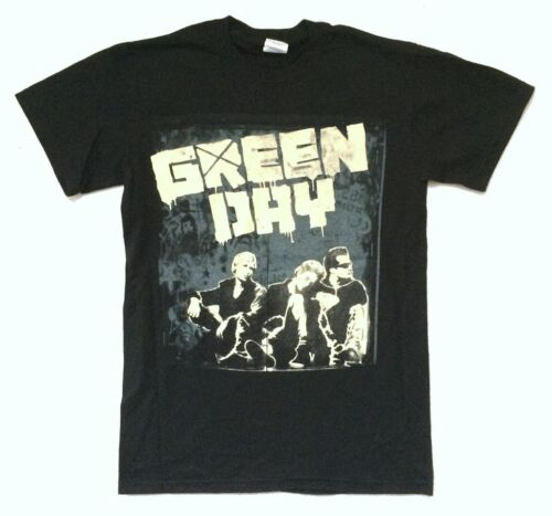 Green Day Grey Wall Band Pic World Tour 2010 Black Shirt New Official US Europe