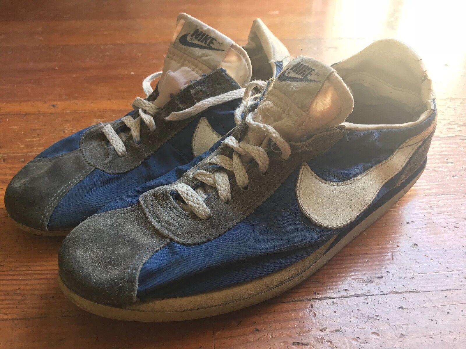 1984 Nike Cortez Waffle Blue and Grey Size 7