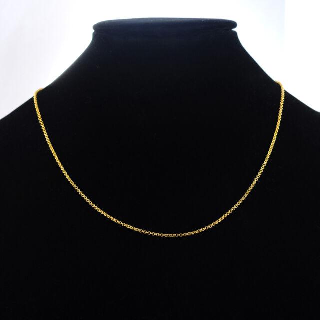 1 Collier Maille Forçat en 24K Or Plaqué Bijoux Mode 44cm