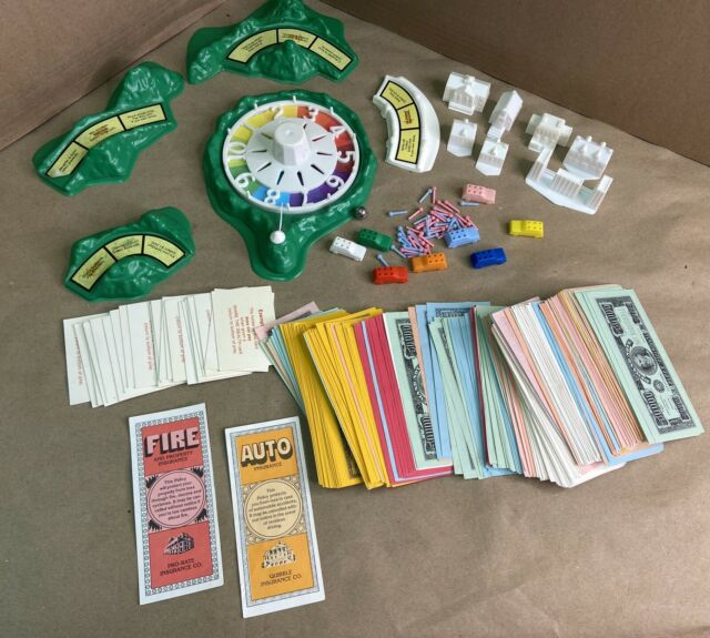 Vintage 1982 The Game of Life Board Game Original REPLACEMENT PIECES Money Cars