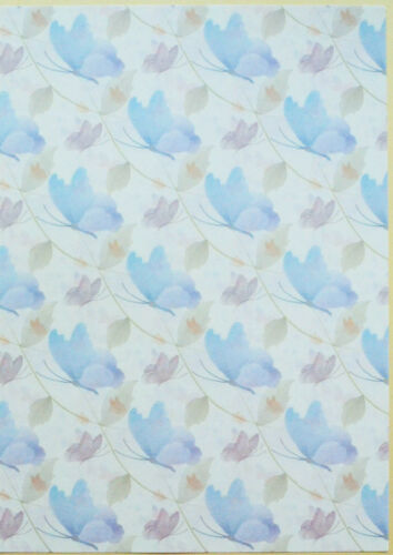 2 x A4 Animal//Floral//Patterned//Butterfly 8 Options Backing Paper NEW