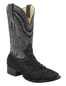 Herrenschuhe Streng Corral Herren Gnarly See Bass Leder Quadratische Zehe Cowboy Western Die Nieren NäHren Und Rheuma Lindern Kleidung & Accessoires