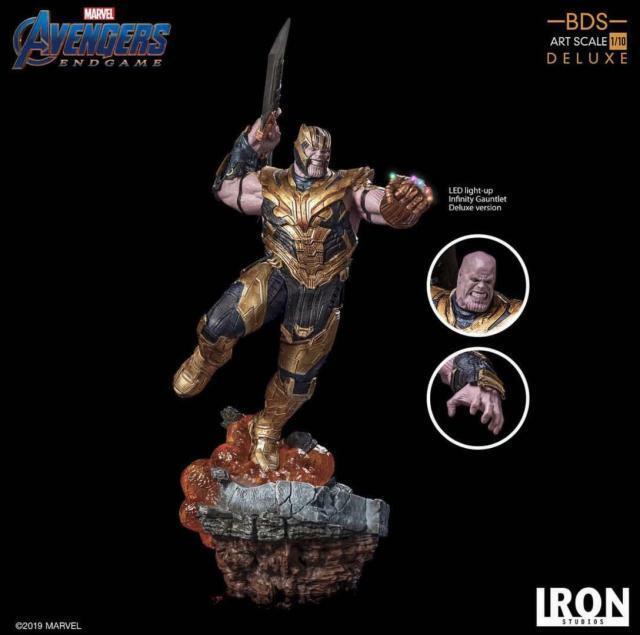 1 10 Iron Studios Avengers Thanos Statue Model Figure Toy Deluxe Ver.