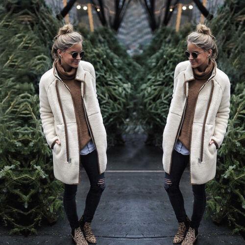Damen Winter Strickjacke Mantel Cardigan Tops Jacke Fleecejacke Sweater Jumper