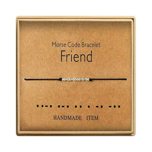 Handwear Bracelet Morse Code Jewelry Gift for Her Sterling Silver Beads Bad