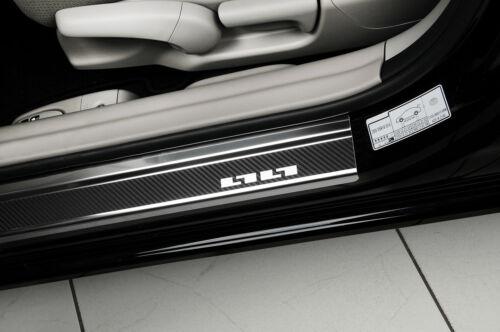 CAR DOOR SILL PROTECTOR for VAUXHALL CORSA D//E 3d carbon since 06//14 steel