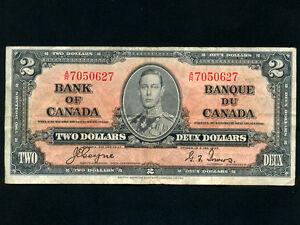 Canada-P-59c-2-Dollars-1937-King-George-VI-Coyne-Towers