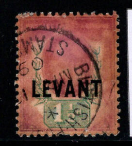 Grossbritannien-1905-Mi-22-Gestempelt-100-1-Sh-Levante