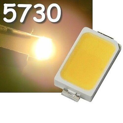10x blanc chaud 5730 smd LED, 80ma = 32lm, 150ma = 44lm/High smds LED Blanc