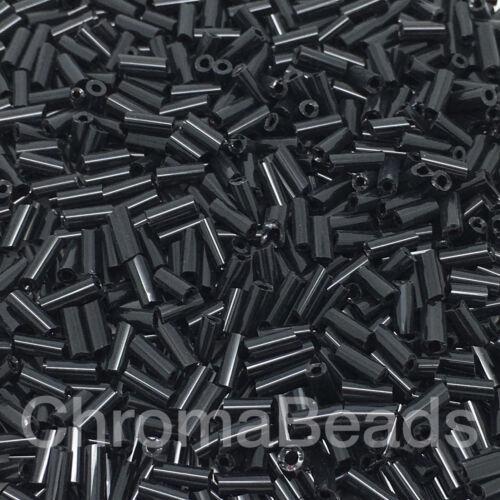 4mm rohre,basteln, 50g glas stiftperlen Schwarz Undurchsichtig ca