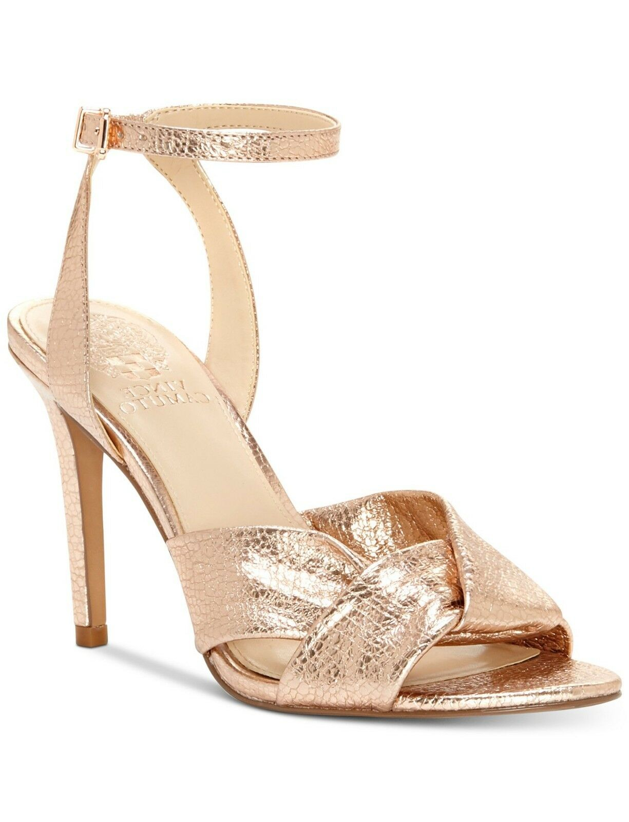 Vince Camuto Jenika Beaming bluesh Knotted Ankle Strap Sandals Multisizes