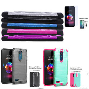 Phone-Case-for-AT-amp-T-PREPAID-LG-Phoenix-Plus-Shock-absorbing-Dual-Layered-Cover