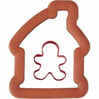 Gingerbread House & Boy Comfort Grip Cookie Cutter 2 Pc Set From Wilton 7097