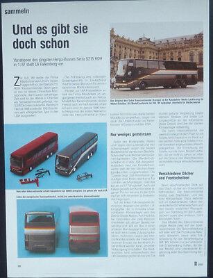 Raccogliere Setra S215 Hdh Bus In 1-87 Herpa... Una Relazione Modello- A Tutti I Costi