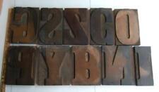 10 Antique 8 Large Wooden Letterpress Print Type Block Letters