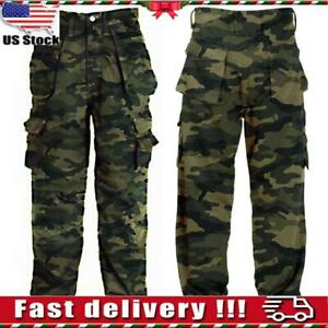 Mens Women Camo Overalls Trousers Oversize Casual Pants Loose Military Combats