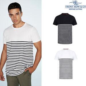 Front-Row-a-manches-courtes-Breton-Tag-gratuit-T-FR135-Poids-Lourd-T-shirt-a-encolure-ras-du-cou
