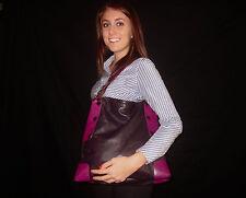 AUTHENTIC ALEANTO COLLEZIONI PURPLE PLUM Leather Shoulder Hobo Handbag Purse