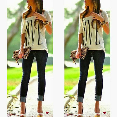 Sexy Womens Short Sleeve Loose T Shirt Summer Casual Lover Tops Blouse Top