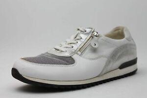 Waldläufer Schuhe weiß grau Leder Textil kombi komfort