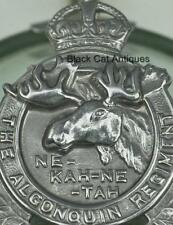 Original VINTAGE Canadian  The Algonquin Regiment Cap Badge KINGS CROWN