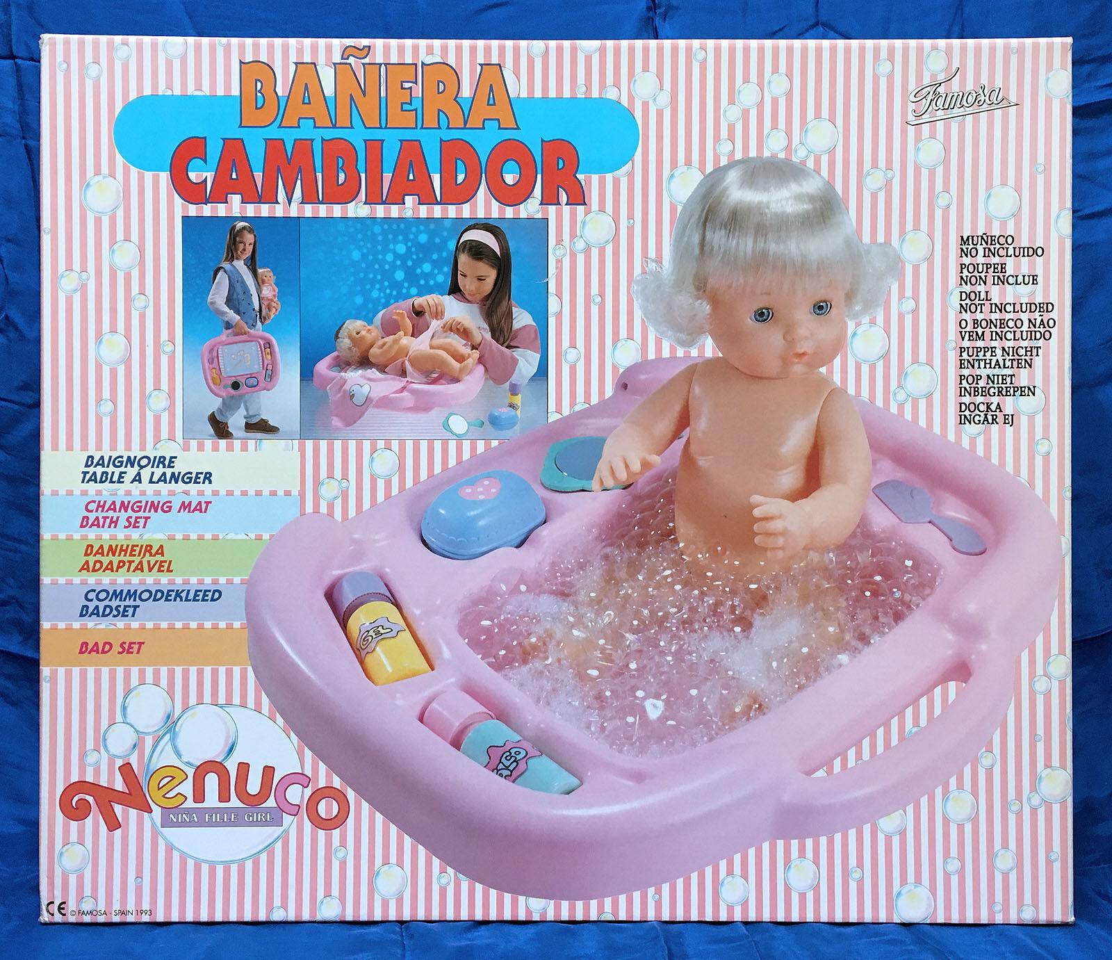 FAMOSA Nenuco bañera cambiador (sin muñeco). Año 1.993. Nuevo sin uso.