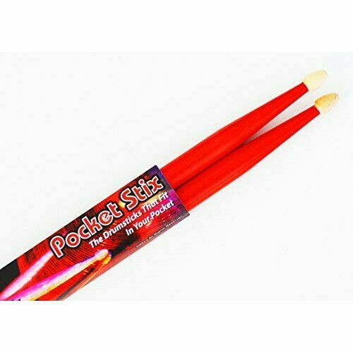 Rockin' Red Drumsticks Youth Kids Children Pocket Stix 11 5A Drum Sticks Pair
