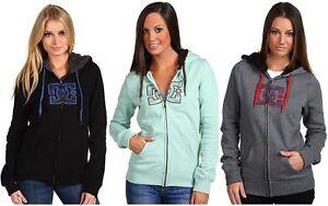DC-Shoes-Womens-Harbour-Hoodie-Full-Zip-Sherpa-Jacket-Sweatshirt-hoody-XS-L-NEW