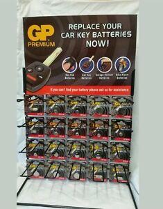 G-B-Battery-Car-Key-Fob-Battery-Remote-Display-Stand-200-pce-Car-Garage