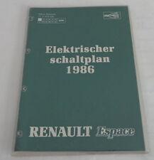 Werkstatthandbuch Elektrik Schaltpläne Renault Espace 1986