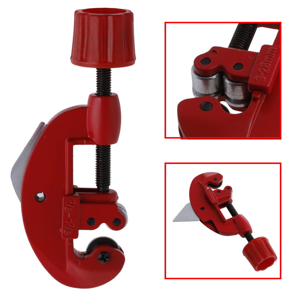 Red 3mm-28mm Tube Pipe Cutters Heavy  Cuts Copper Brass Aluminium Plastic Pipe~~