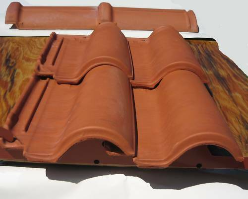 124 Pcs Roof Tiles 2006 Manufacture Spanish S Clay Chalkis