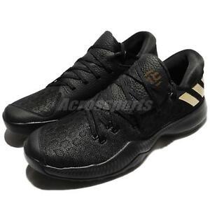 adidas Harden B E James Bounce Black Gold Men Basketball Shoes ... 8de5be17d