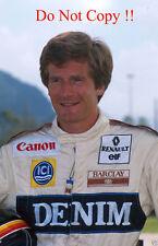 THIERRY BOUTSEN WILLIAMS F1 Portrait 1989 Fotografia 1