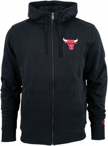 Zip Era New cappuccio Chicago Apparel con Bulls Team felpa Nba Schwarz HwwYdBqr