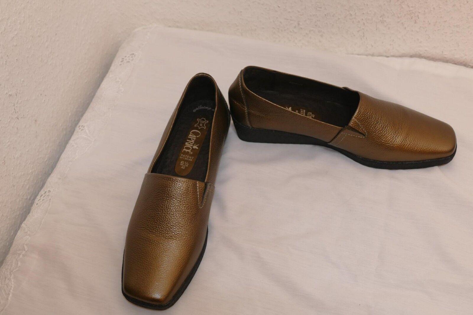 1224---Caprice 1224---Caprice 1224---Caprice Slipper UK 6,5 Gr 40 gold matt Leder aussen + innen + sehr leicht 7dbbc9